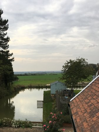 Stowmarket, UK: Our beautiful view from The Hayloft. You can see a very small portion of the gardens from this v