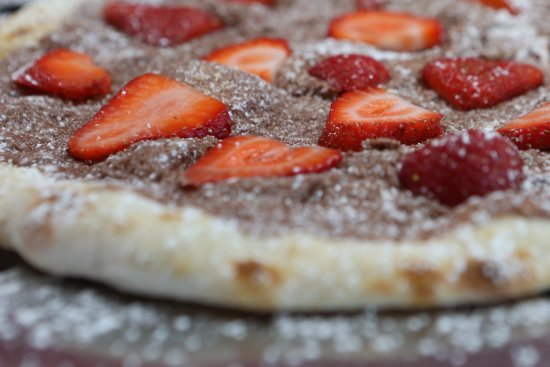 Stony Brook, NY: nutella pizza w freshh strawberries
