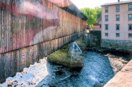 Boston & Maine Covered Railroad Bridge over the Contoocook River