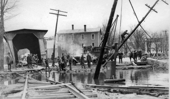 Contoocook, NH: Aftermath of the great flood of 1938