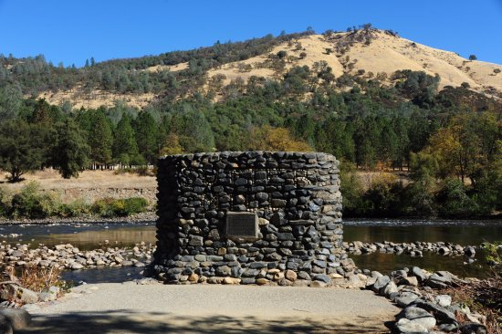 Coloma, CA: This monument marks the spot of the original Sutter's Mill. It all started here!