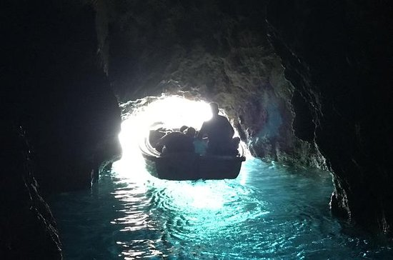 Private Blue and Green Cave Speedboat...