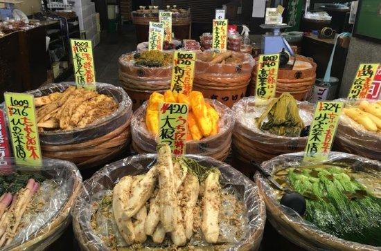 プライベートマーケットでの京都市民との食事と食事