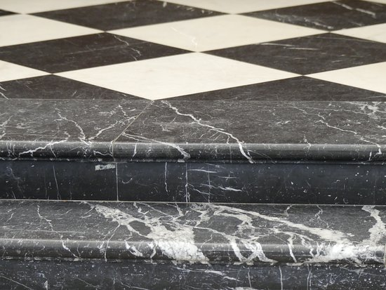 The National Churchill Museum: Flooring in the Christopher Wren designed church in Fulton, Missouri