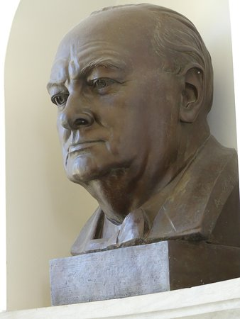 Bust of Winston Churchill at the National Churchill Museum
