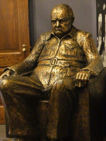The National Churchill Museum: A surly looking Winston Churchill