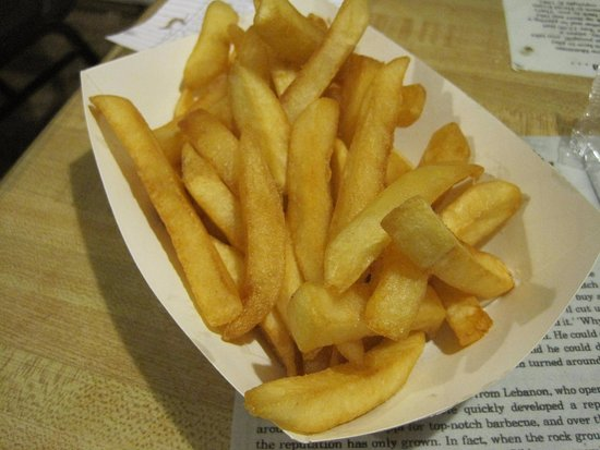 Abe's: fries, extra crispy!