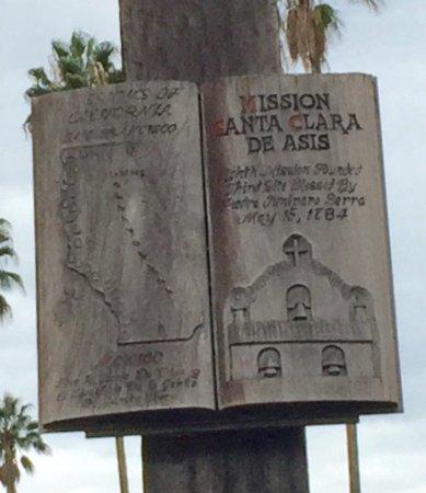 Mission Santa Clara de Asis: Wooden Cross