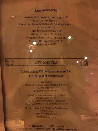 Le ptit breguet menu