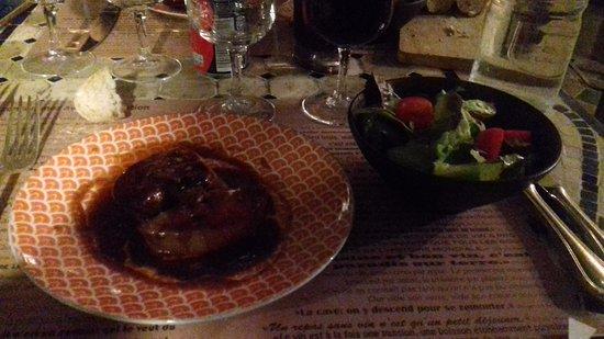 Rolleboise, France: Foie gras poêlé