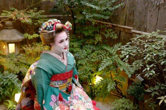 Blonde geisha girl pity, that