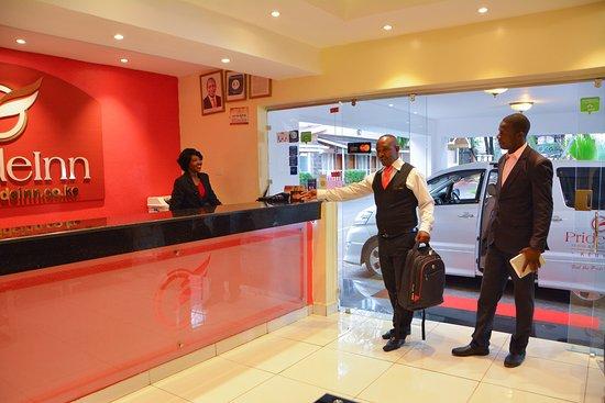 PrideInn Hotel Raphta: Guest Arrival