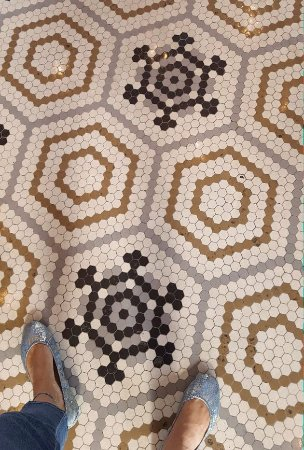 Historic RailPark and Train Museum: Each tile laid separately by italians with imperfections in pattern believing only God was perfe