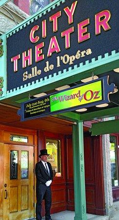 Biddeford, ME: Marquis, entrance, doorman at 2017 Wizard of Oz production