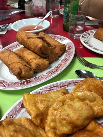 Wo Hop : Egg rolls and fried dumplings--YUM!