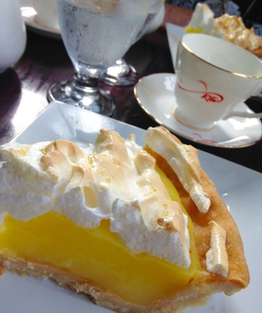 Big Pond, Canada: Homemade Lemon Pie from Heaven with a steaming pot of Rita's Tea.