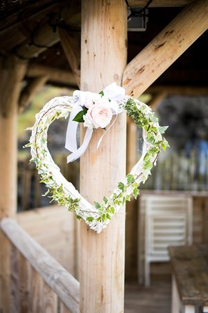 Tunnels Beaches: Wedding Heart on Gazebo