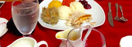 Big Pond, Canada: Turkey Dinner. Scrumptious Stuffing.