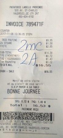Vaudreuil-Dorion, Kanada: $16.55 avec taxes pour deux