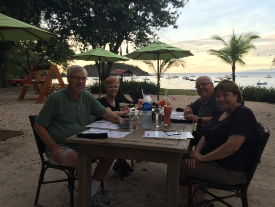 Playa Ocotal, Costa Rica: Dinner at sunset