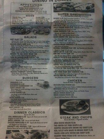 Dundee Diner Menu