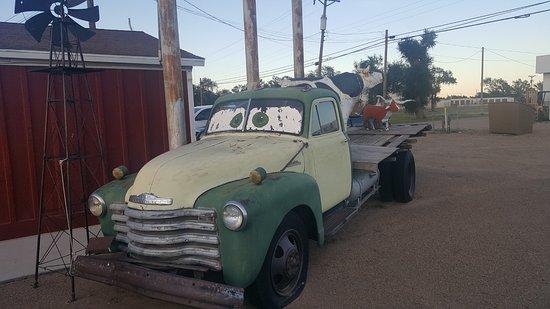 Vega, TX: The truck outside the restaurant.