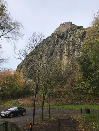 Dumbarton Castle: View from the car park.