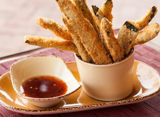 Ojo Caliente, NM: Artesian Restaurant Green Chili Fries - a Favorite!