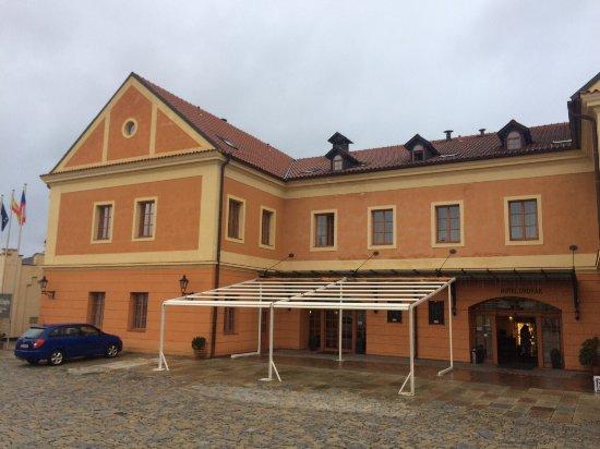 Tabor, República Tcheca: Entrata dell'Hotel