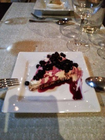 Home made delicious cheesecake at La Terrasse de Verchaix!