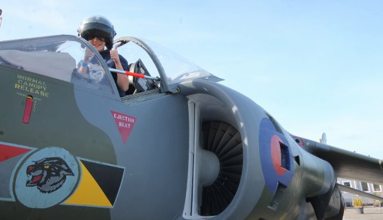 Newquay, UK: Climb aboard our Hawker Harrier jet