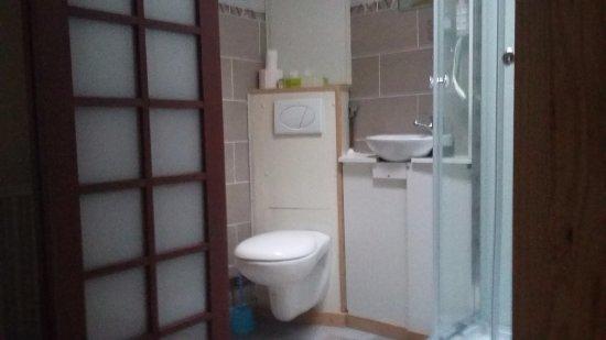 Ecurey-en-Verdunois, Frankrike: Salle de bain intégrée de la grande chambre