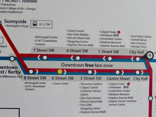 on calgary transit train map
