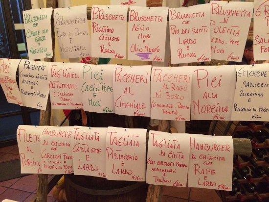 Foiano Della Chiana, Italia: Primi piatti