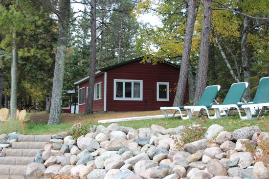 Two Inlets Resort: View of Cabin 1 from beach area.