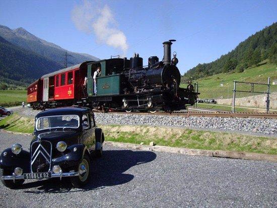 Ulrichen, สวิตเซอร์แลนด์: Umgebung: Furka Dampfbahn