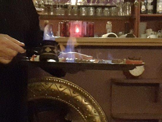 Watermael-Boitsfort, Belgium: Chachlik flambé à la slivovic