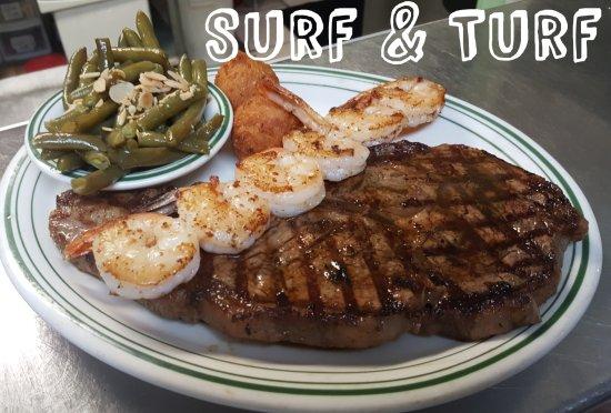 Crestview, FL: Surf and Turf with Grilled Shrimp Skewer