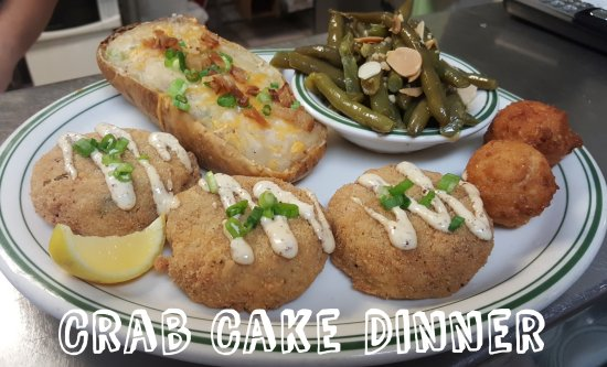 crab cake dinner dozen baked oysters obr 225 zok emerald isle seafood 3154