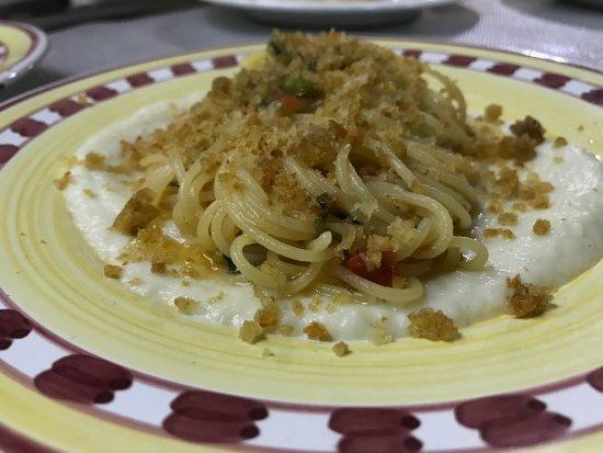 L'Usignolo Ristorante Pizzeria: spaghetti alla cannavacciuolo rivisitata