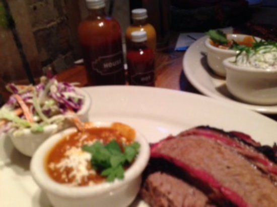 Lamberts Downtown Barbecue: Brisket Sampler Plate