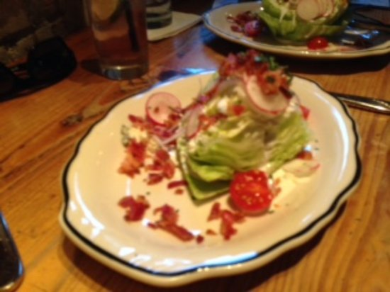 Lamberts Downtown Barbecue: Wedge Salad - split in half