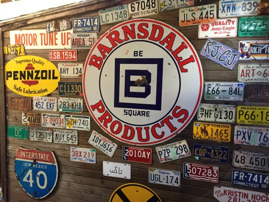 Sandia Park, NM: Wall of license plates