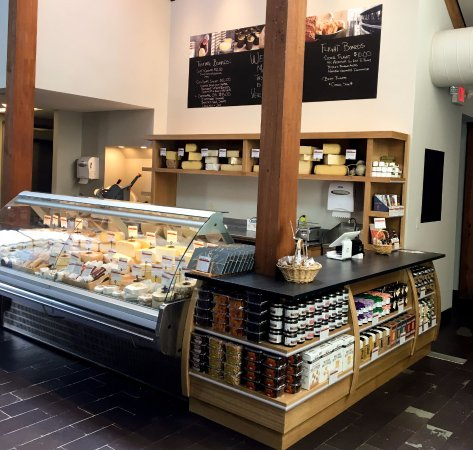 The Taste Place showcases over 50 Vermont-made cheeses.