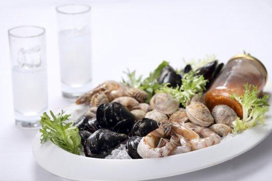 Vyronas, Hellas: Balcony Cyclades_fresh seafood