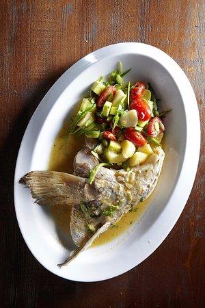 Vyronas, Hellas: Balcony Cyclades_steamed fresh fish