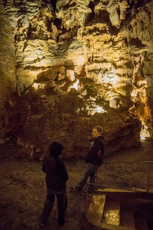 Huntingdon, Pennsylvanie : Inside the first cave.