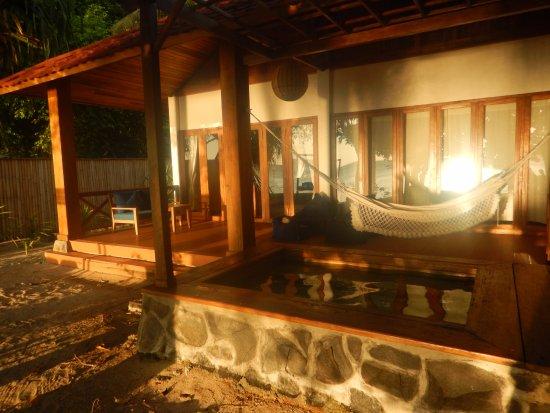 Siladen Resort & Spa: The outdoor deck of my room