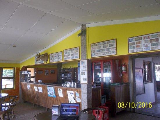 San Jorge, Nicaragua: Salón principal con particular de colección de billetes nacionales y extranjeros