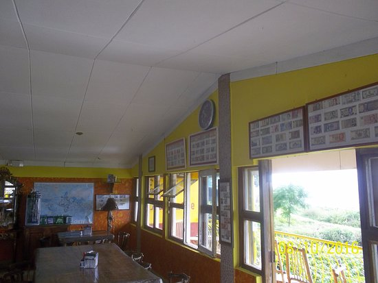 San Jorge, Nicaragua: Main Room with particular of the large collection of national and foreign banknotes